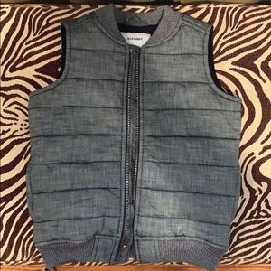 Old Navy Toddler Chambray Style Fleece Lined Vest